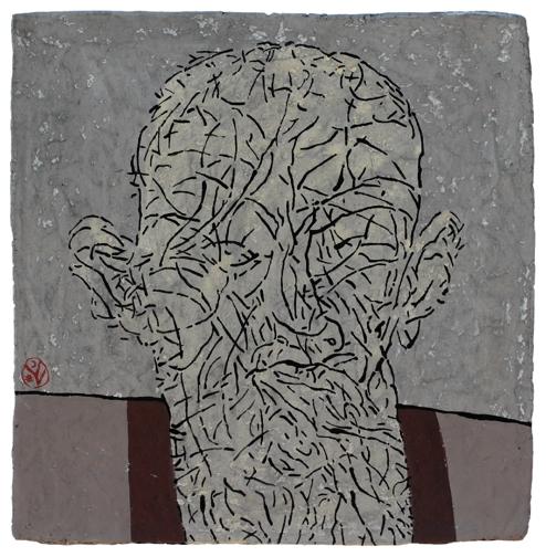 KOROK II. / VÂRSTE II. / AGES II. / ÂGES II. / papier maché / 41x41 cm / 2018