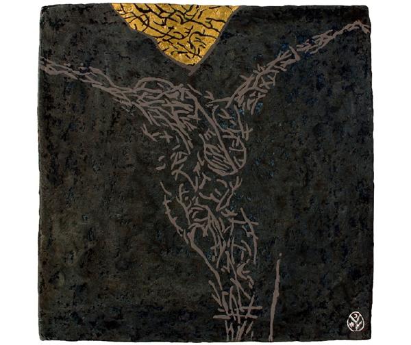 MÁSIK LATOR / ALT TÂLHAR / THE OTHER THIEF / UN AUTRE VOLEUR / papier maché / 41x41 cm / 2017